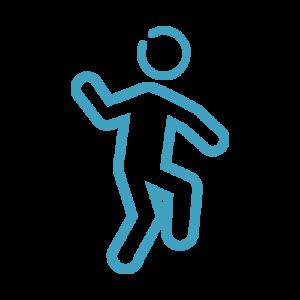 Das Bild zeigt einen tanzenden Körper als Symbol für den thematischen Omokeya-Schwerpunkt Bewegung.