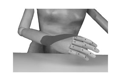 Bild Kinesio Tapes zur besonderen Massage für die Hand