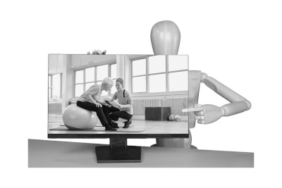 Bild Physiotherapie zuhause: einfach online Kontakt finden, Beratung nutzen oder Trainingsplan erhalten