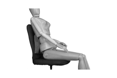 Bild Entspannung im Sitzen durch Kissen zur Entlastung der Wirbelsäule