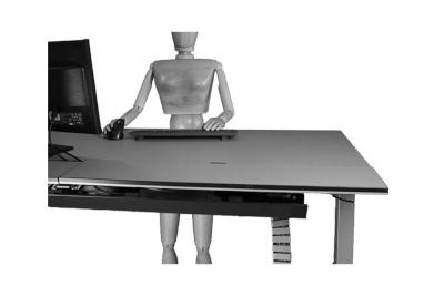 Bild Höhenverstellbare Schreibtische und Aufsätze für einen ergonomischen Arbeitsplatz