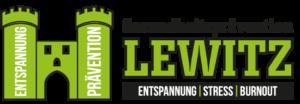 Das Bild zeigt das Logo der Gesundheitsprävention Lewitz zum Beitrag Faszientraining bei Kniebeschwerden.