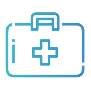 Das Bild zeigt einen Arztkoffer als Symbol für den thematischen Omokeya-Schwerpunkt Linderung.