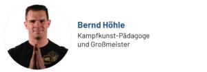 Das Foto zeigt den Beitragsautor Bernd Höhle, Kampfkunst-Pädagoge und Großmeister