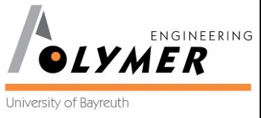 Logo Polymer Engineering der Universität Bayreuth