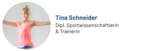 Das Foto zeigt Tina Schneider, Sportwissenschaftlerin, Trainerin und Autorin des Beitrags