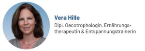 Das Foto zeigt Vera Hille, Oecotrophologin, Ernährungstherapeutin und Entspannungstrainerin, Autorin des Beitrags zur Progressiven Muskelentspannung gegen emotionales Essen