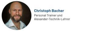 Das Foto zeigt Christoph Bacher, Autor des Beitrags zur Alexander-Technik
