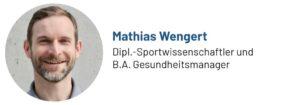 Das Foto zeigt Mathias Wengert, Sportwissenschaftler, Gesundheitsmanager und Personal Trainer, Autor des Beitrags zu Übungen für Senioren