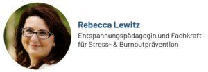 Das Foto zeigt Rebecca Lewitz, Entspannungspädagogin und Fachkraft für Stress- und Burnoutprävention, Autorin des Beitrags zu Phantasiereisen